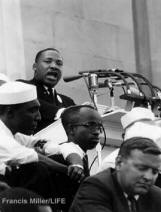 Martin Luther King delivering the I Have a Dream Speech