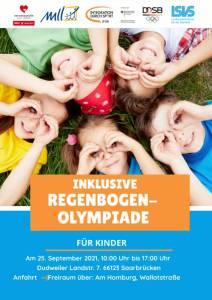 Plakat der Inklusiven Regenbogenolympiade