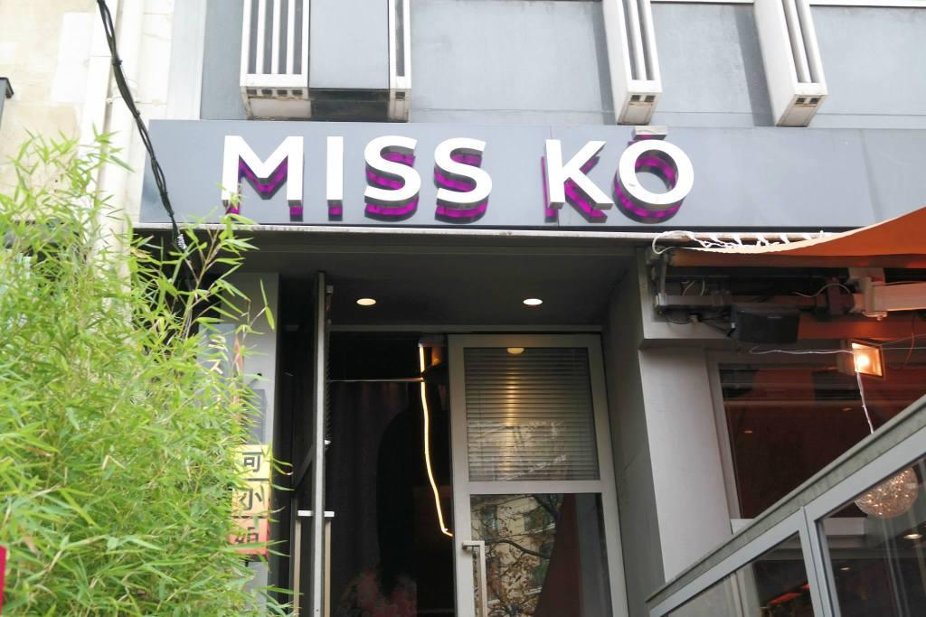Façade restaurant Miss Kô