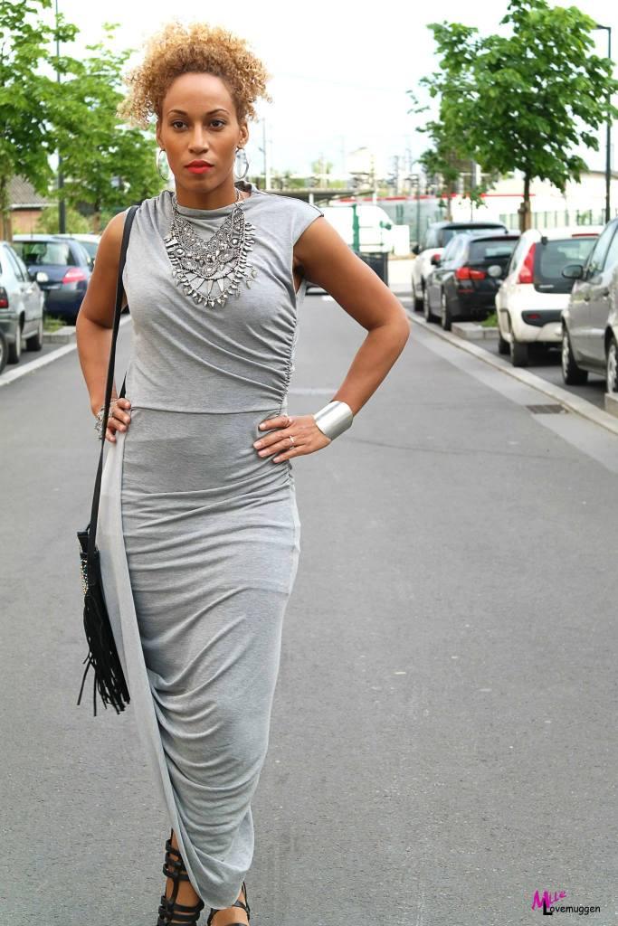 Robe drapée H&M spartiate