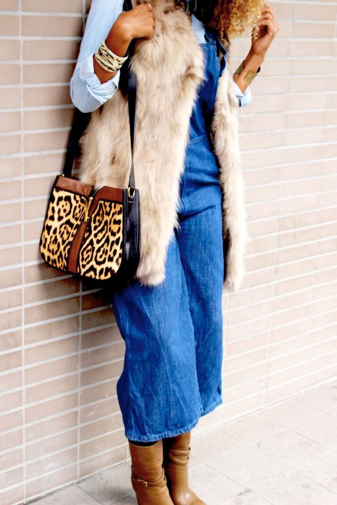 Combinaison jupe-culotte jean