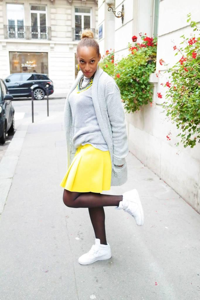 LA jupe néoprène jaune 2