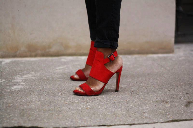 chaussures ZARA rouges