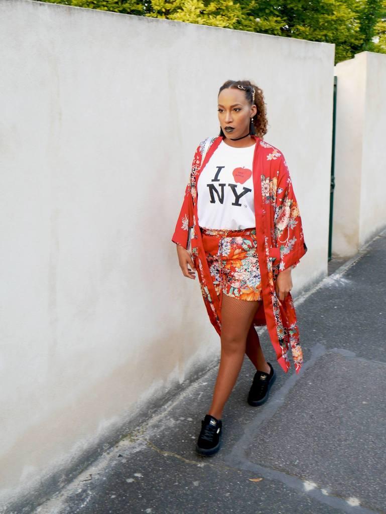 kimono rouge