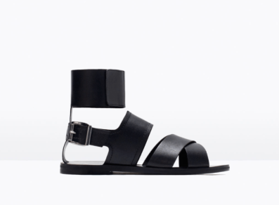 La sandale basic en cuir 59,90€ ZARA