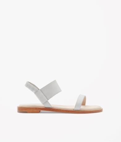 Sandale basic cuir blanc COS