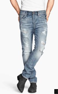 Le jean déchiré 39,90 H&M
