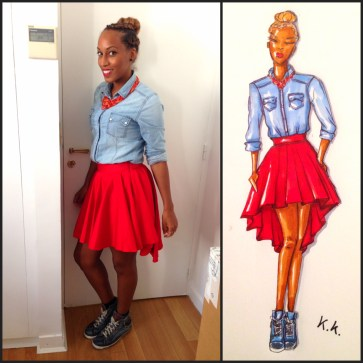 La jupe rouge