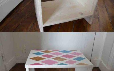 DIY *une jolie table de chevet géométrique*