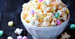 popcorn avec petits coeurs pour cadeaux d'invités