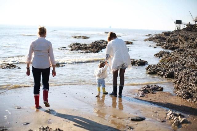 seance photo famille a la plage