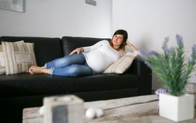 Une séance photo grossesse à la maison, en attendant Côme