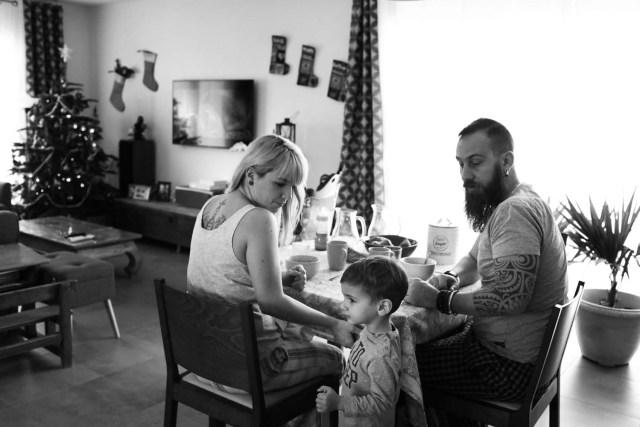 photo en famille