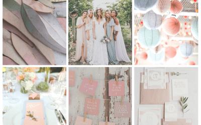 Une décoration de mariage nature et pastel