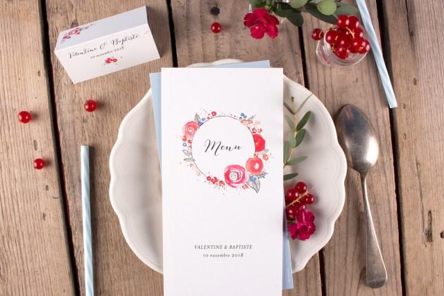 papeterie de table mariage