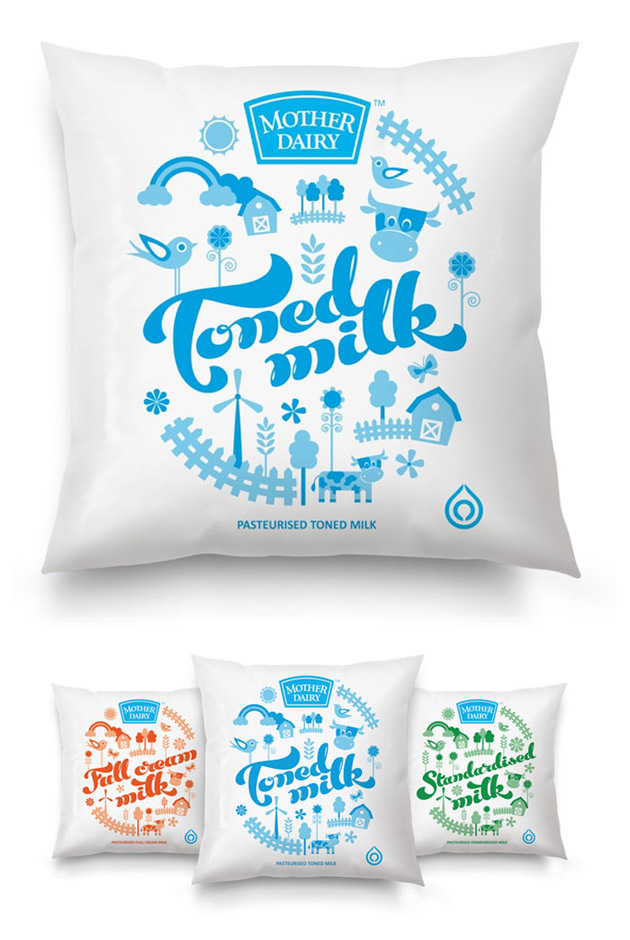 Packaging Leche, Mother Dairy by Sulekha Rajkumar