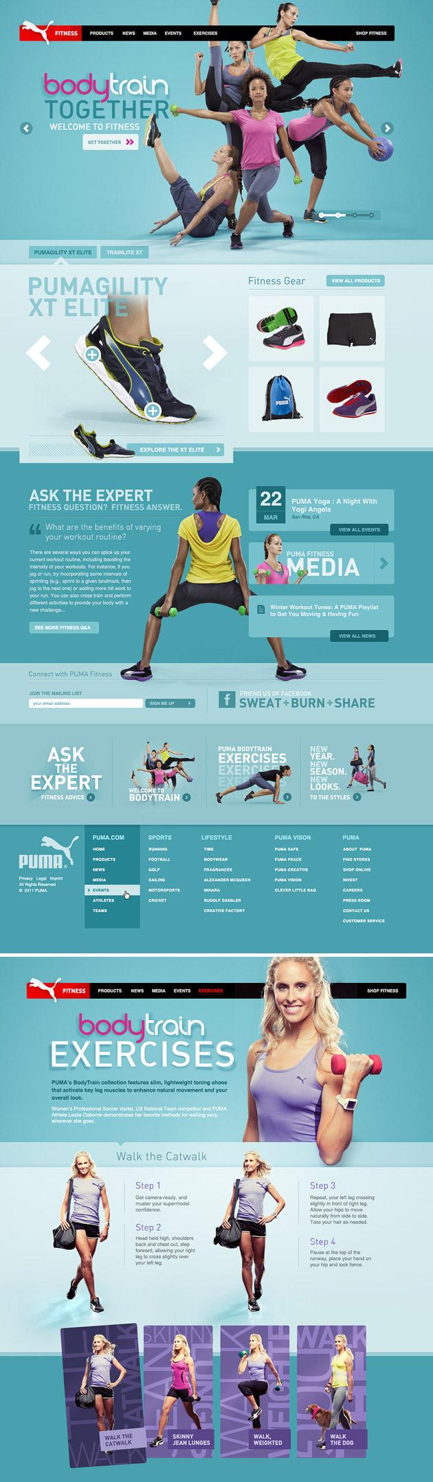 PUMA Fitness- Inspiración web design
