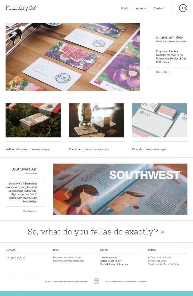 FoundryCo- Inspiración web design