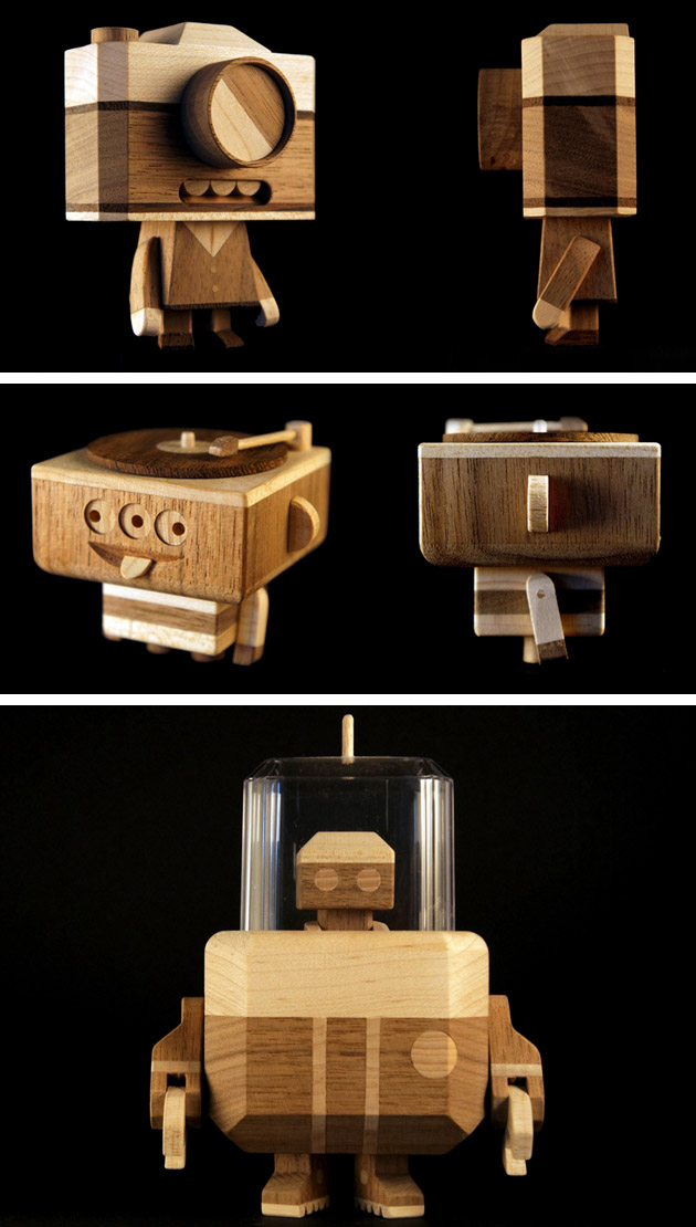 Wooden bots & Characters by LouLou & Tummie