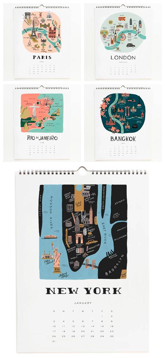 Cities Of The World - Calendarios Creativos 2016