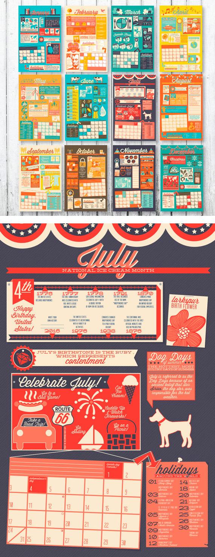 Infographic Mini Calendar - Calendarios Creativos 2016