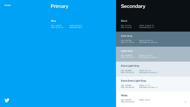Colores - Guía de estilo de Twitter