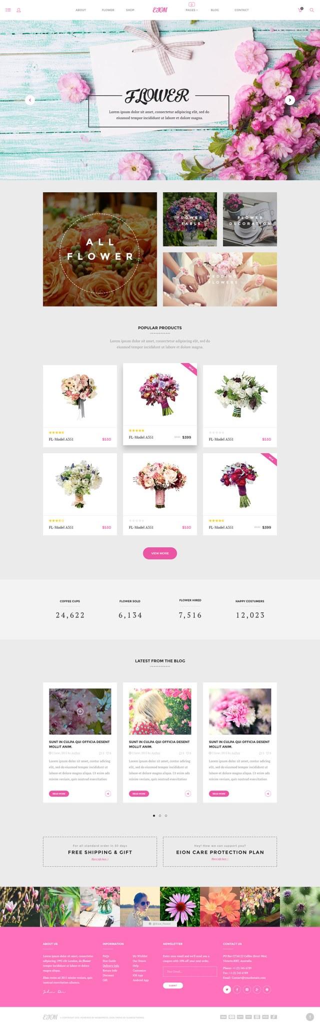 EION plantilla PSD webs para florísterias