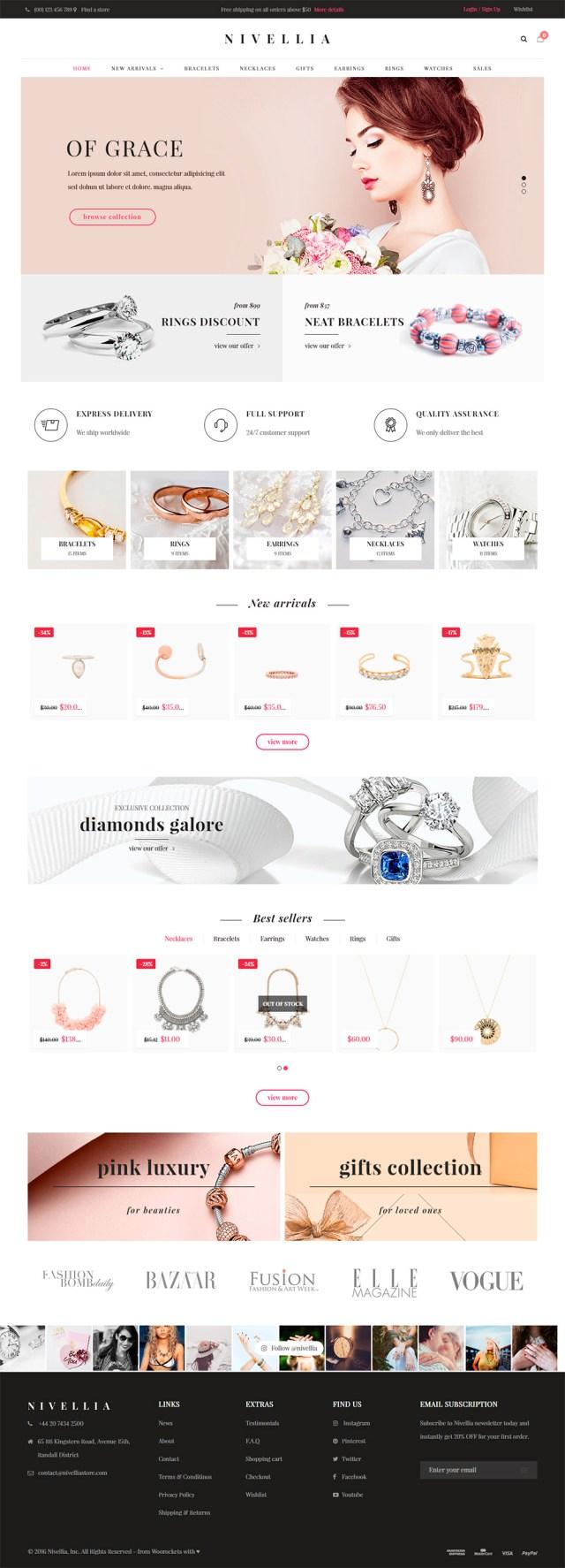 Nivellia - webs para joyerías