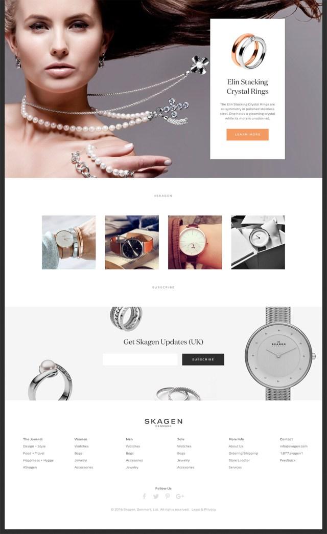 Skagen - Webs para joyerías