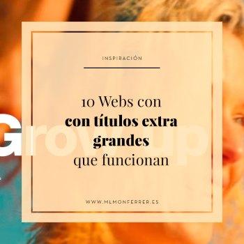 Ejemplos de webs con títulos extremadamente grandes