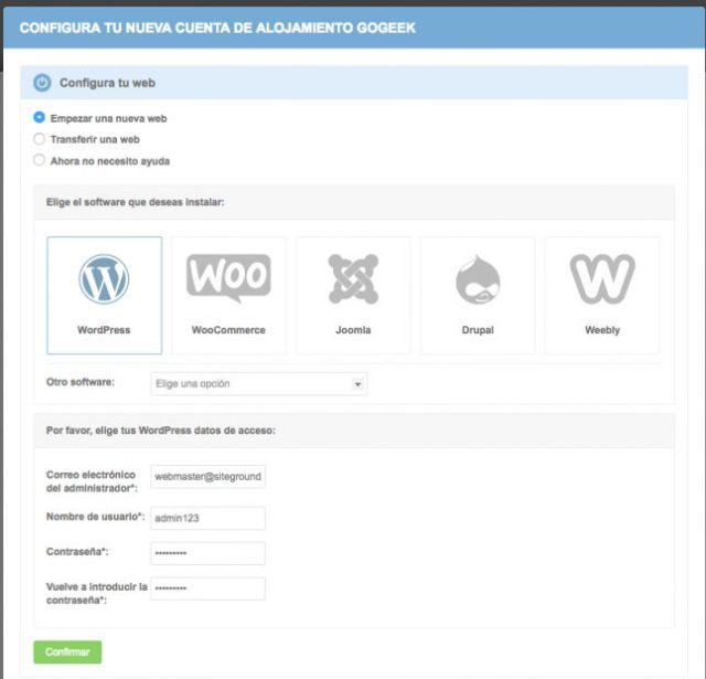 Paso 2.1 - instalar WordPress con el asistente de configuración