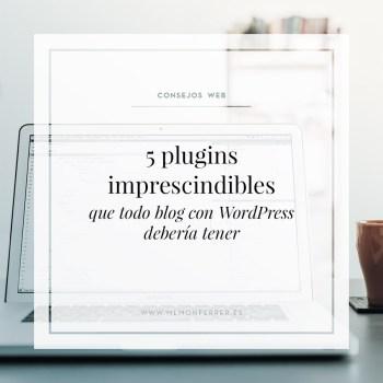 Estos son los 5 plugins de WordPress que considero imprescindibles y que todo blog debería tener