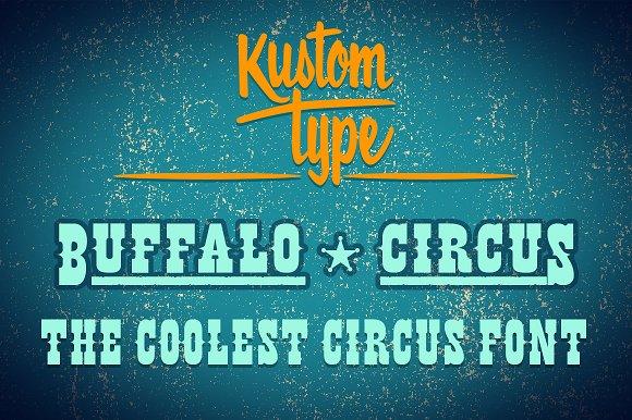 Fuentes inspiradas en el circo | Buffalo Circus Font  | MlMonferrer