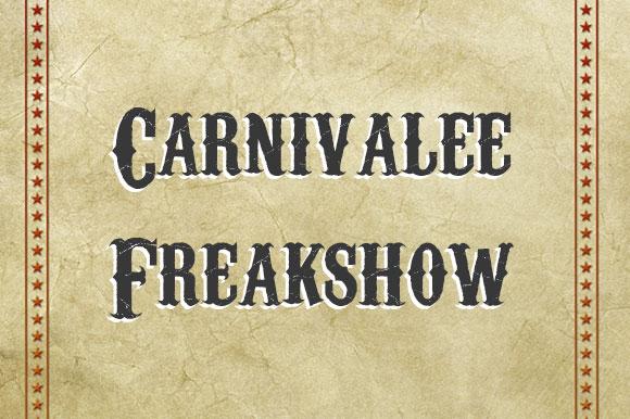 Fuentes gratuitas inspiradas en el circo  |  Carnivalee Freakshow   |  mlmonferrer.es