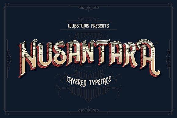Fuentes inspiradas en el circo | Nusantara Layered Typeface | MlMonferrer