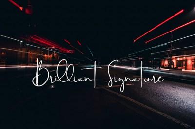 Brilliant Signature Font | Recursos gratuitos de junio para diseñadores  | mlmonferrer.es
