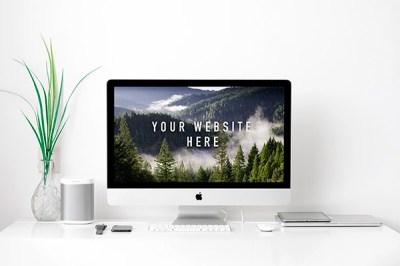 iMac Mockup | Recursos gratuitos de junio para diseñadores  | mlmonferrer.es