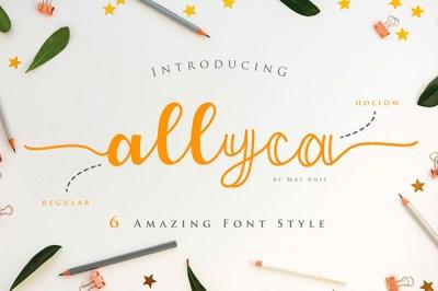 Allyca font | Recursos gratuitos de junio para diseñadores  | mlmonferrer.es