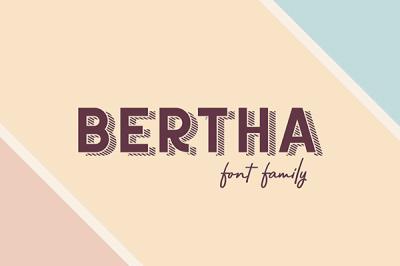 Bertha font family | Recursos gratuitos de junio para diseñadores  | mlmonferrer.es