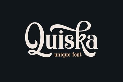 Quiska font | Recursos gratuitos de junio para diseñadores  | mlmonferrer.es