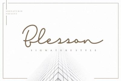 Blesson – Signature Font | Recursos gratuitos de julio para diseñadores | mlmonferrer.es