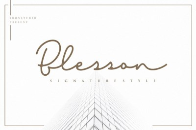 Blesson – Signature Font   Recursos gratuitos de julio para diseñadores   mlmonferrer.es