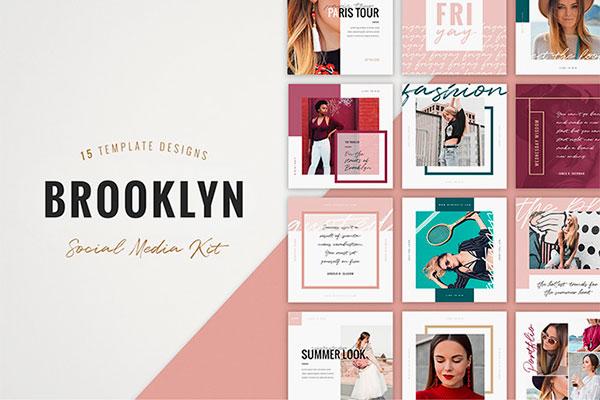 Brooklyn Instagram Templates | Recursos gratuitos de julio para diseñadores | mlmonferrer.es