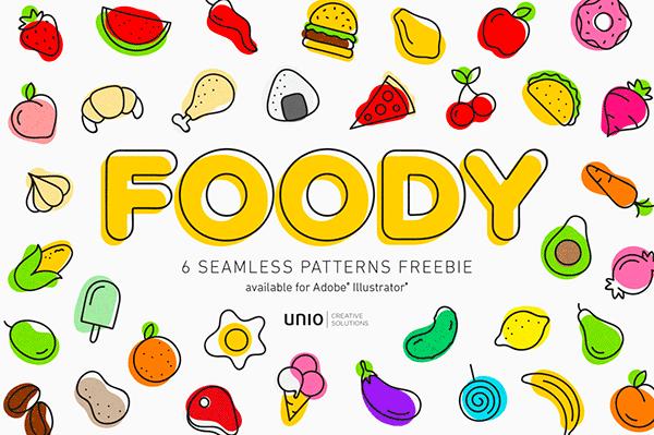 Free Foody Vector Patterns | Recursos gratuitos de julio para diseñadores | mlmonferrer.es