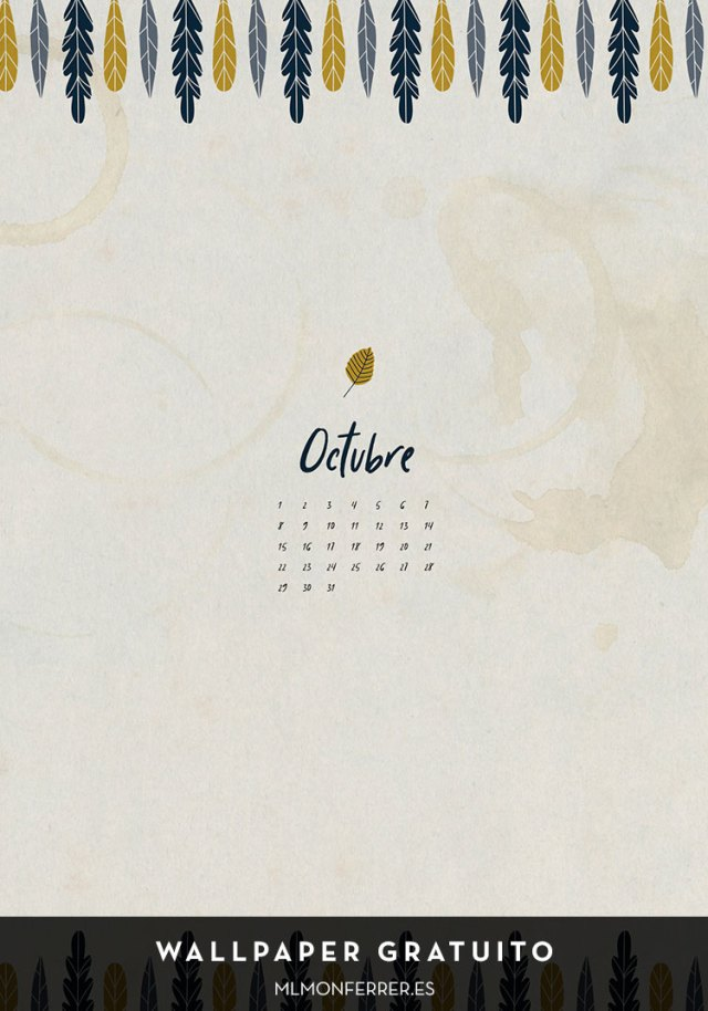 Wallpaper gratuito | Calendario de octubre