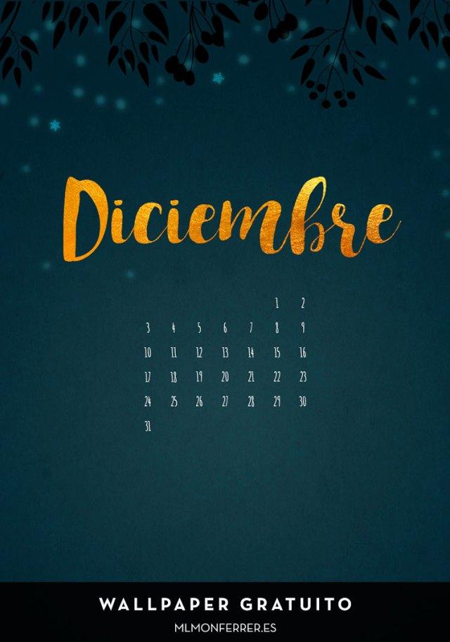 Wallpaper gratuito | Calendario de diciembre