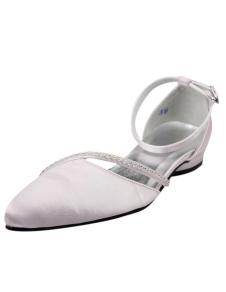Glitter Rhinestone Stiletto Heel Pointed Toe Silk And Satin Fashion Woman's Wedding Shoes