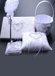 Bridal Wedding Sets Satin Bow Pearls Rhinestone Collection Sets