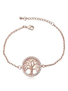 Wedding Chin Bracelets Pink Gold Tree Bridal Bracelet
