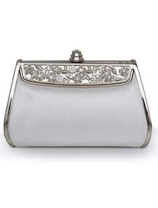 Vintage Silver Embossed Evening Bag